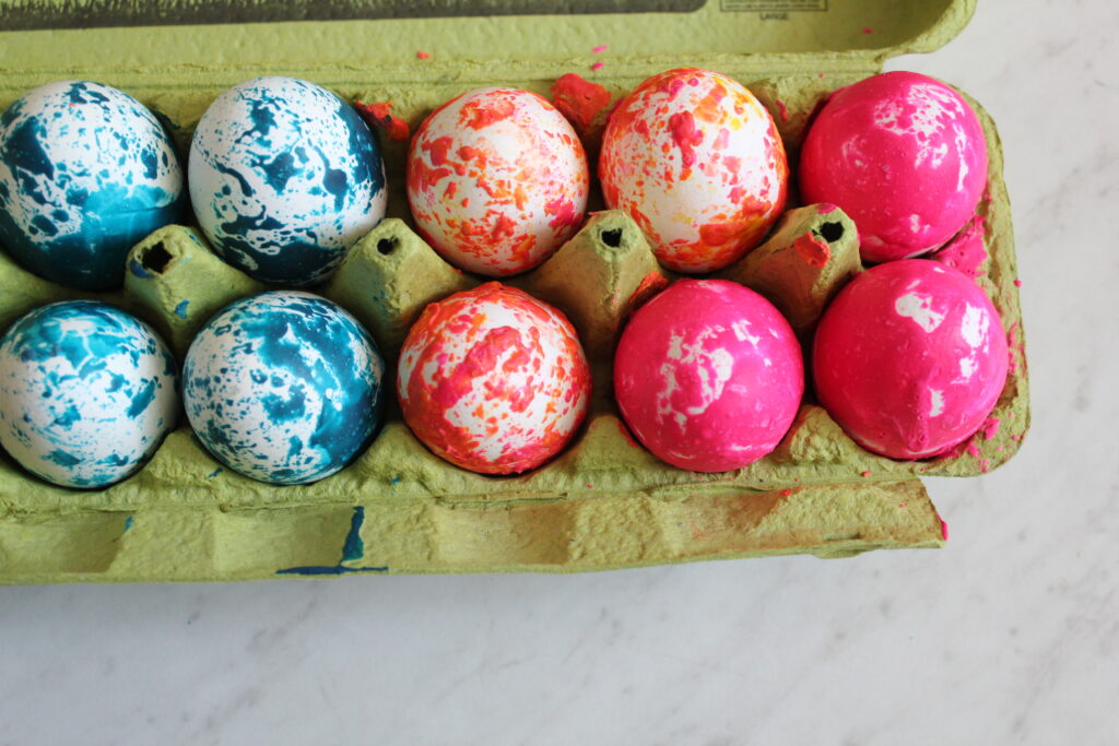 Marbled Melted Crayon Easter Eggs